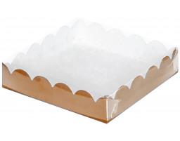 """Коробка для пряников и печенья """"Крафт"""" 120х120х30"""