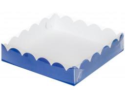 """Коробка для пряников и печенья """"Синяя"""" 120х120х30"""