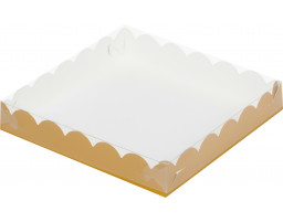 """Коробка для пряников и печенья """"Золото матовая"""" 120х120х30"""