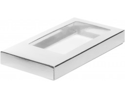 Коробка для шоколадной плитки Серебро