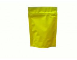 Пакет дой пак металлизированный желтый матовый с замком зип-лок 105х150