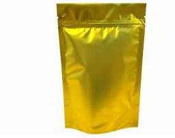 Пакет дой пак металлизированный золотой матовый с замком зип-лок 135х200