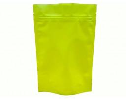 Пакет дой пак металлизированный желтый матовый с замком зип-лок 135х200
