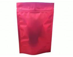 Пакет дой пак металлизированный красный матовый с замком зип-лок 135х200