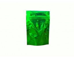 Пакет дой пак металлизированный зеленый с замком зип-лок 80х120