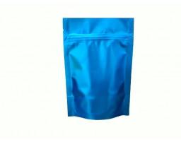 Пакет дой пак металлизированный синий матовый с замком зип-лок 135х200