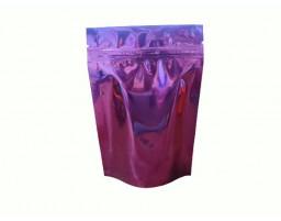 Пакет дой пак металлизированный бордовый глянцевый с замком зип-лок 105х150