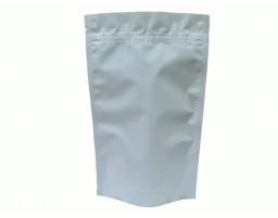 Пакет дой пак металлизированный белый матовый с замком зип-лок 135х225