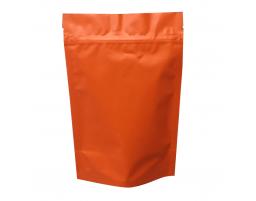 Пакет дой пак металлизированный оранжевый матовый с замком зип-лок 135х200