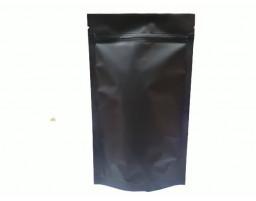 Пакет дой пак металлизированный коричневый матовый с замком зип-лок 135х225