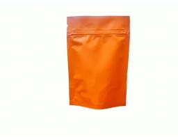 Пакет дой пак металлизированный оранжевый матовый с замком зип-лок 105х150