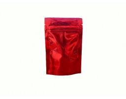 Пакет дой пак металлизированный красный с замком зип-лок 80х120