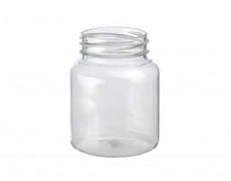 Бутылка прозрачная 0,075л, горлышко 38 мм, круглая, PET