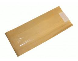 Пакет (11) бумажный с окошком (крафт)  плоское дно 170/70/290