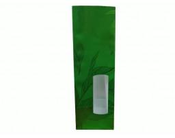 Пакет ламинированный с прямоугольным дном 80/50/240 (большой зеленый листок)