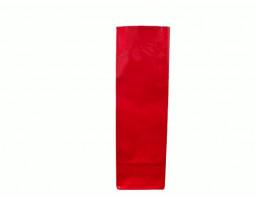 Пакет ламинированный с прямоугольным дном 55/30/170 (красный)