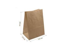 Пакет (С) бумажный (крафт) с прямоугольным дном 220/120/290,50гр