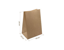 Пакет (B) бумажный (крафт) с прямоугольным дном 180/120/290
