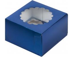 Капкейк на 4 с окном (Синий)
