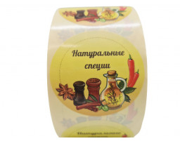 """Наклейка """"Натуральные специи"""""""
