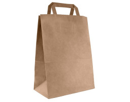 Пакет (02) бумажный (крафт) с плоскими ручками  280/150/320