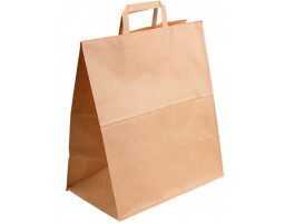 Пакет (2) бумажный (крафт) с плоскими ручками  320/180/320