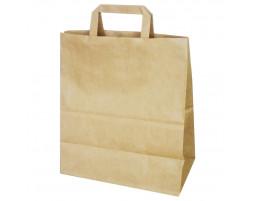 Пакет (4) бумажный (крафт) с плоскими ручками  320/180/430