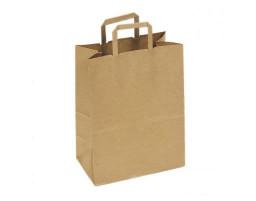 Пакет (1) бумажный (крафт) с плоскими ручками  240/140/290