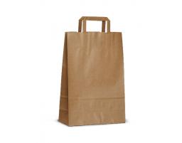 Пакет (5) бумажный (крафт) с плоскими ручками  350/150/450
