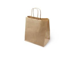 Пакет (8) бумажный (крафт) с кручеными ручками  320/200/370