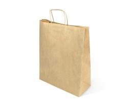 Пакет (5/1) бумажный (крафт) с кручеными ручками 350/150/450