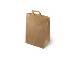 Пакет (3) бумажный (крафт) с плоскими ручками  320/200/370