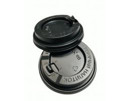 Крышка для стакана с отрывным питейником (90мм) Черная