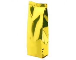 Пакет металлизированный золотой  восьмишовный 120х70х300