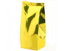 Пакет металлизированный золотой восьмишовный 160х90х330