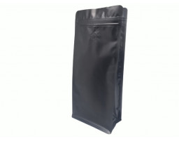 Пакет металлизированный черный восьмишовный (с клапаном) 150х80х345